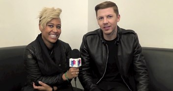 We go backstage at Top Of The Pops with Professor Green and Emeli Sande