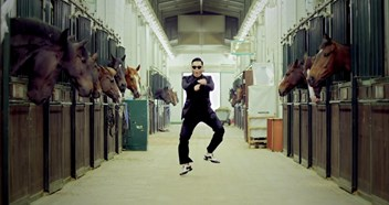 Gangnam Style held off Number 1 by The Script and Example