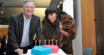 Radio 1's Jameela Jamil and Tony Blackburn help blow out the Official