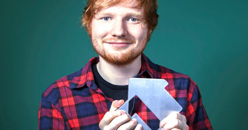 Ed Sheeran songs and albums - Ed celebrates Thinking Out Loud hitting Number 1