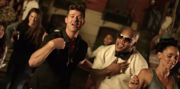 Flo Rida and Robin Thicke throw a street party in I Don't Like It, I Love It music video