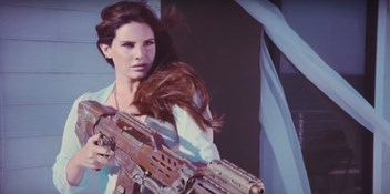 Lana Del Rey takes aim in new High By The Beach video