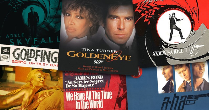 Every James Bond theme ever and where they charted