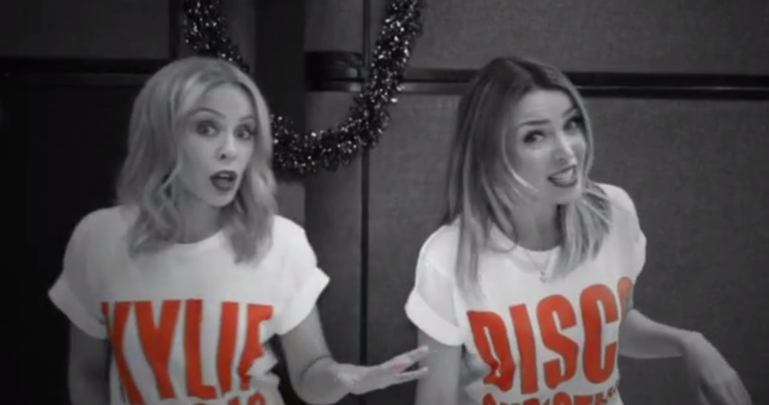 Kylie and Dannii Minogue get festive in their Christmas duet 100 Degrees video