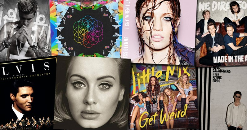 Albums: The Official Top 40 Biggest Albums Of 2015 Revealed