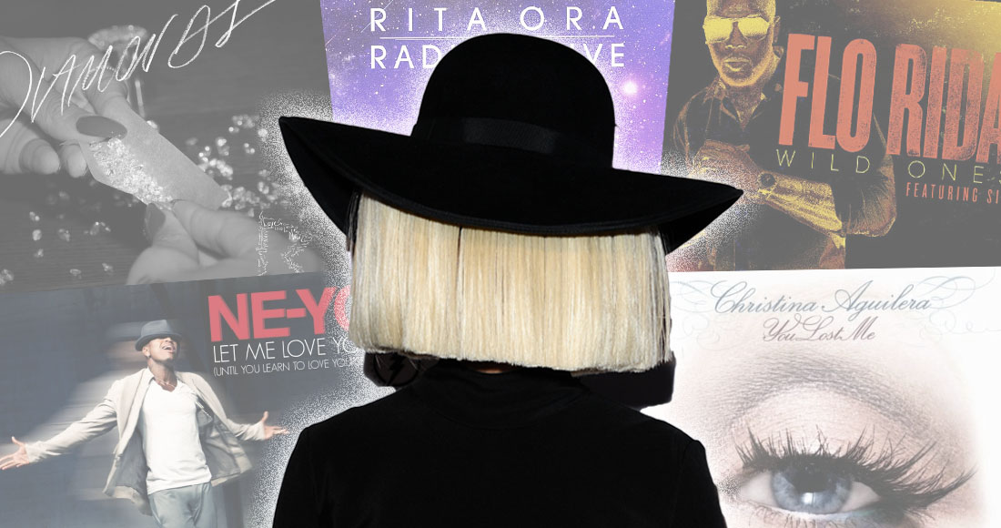 The Top 10 biggest hits Sia gave away revealed