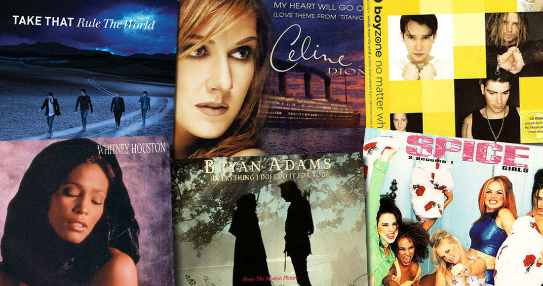 the official top 20 biggest selling love ballads of all time