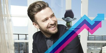 Surprise Justin Timberlake single Can't Stop The Feeling tops this week's Official Trending Chart