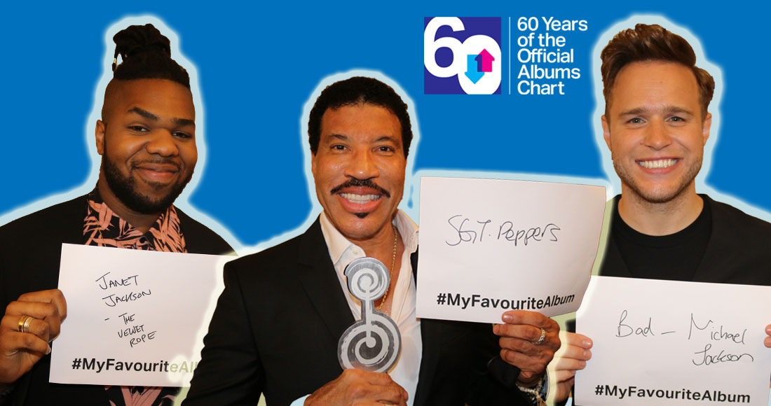 Olly Murs, Lionel Richie, MNEK and more stars reveal their all-time favourite albums