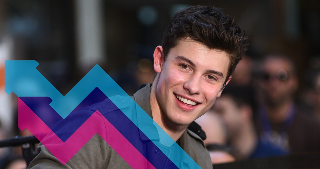 Shawn Mendes rockets to the top spot on the Official Trending Chart