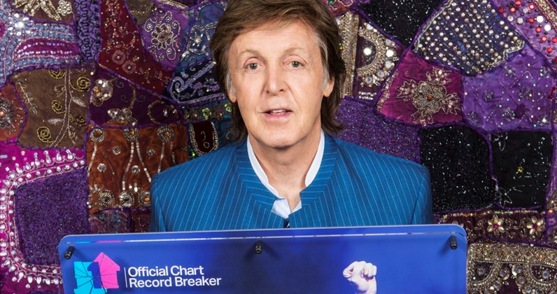 Paul McCartney complete UK singles and albums chart history