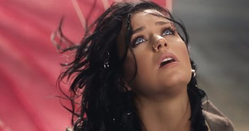 Katy Perry wrestles with a parachute in music video for new single Rise