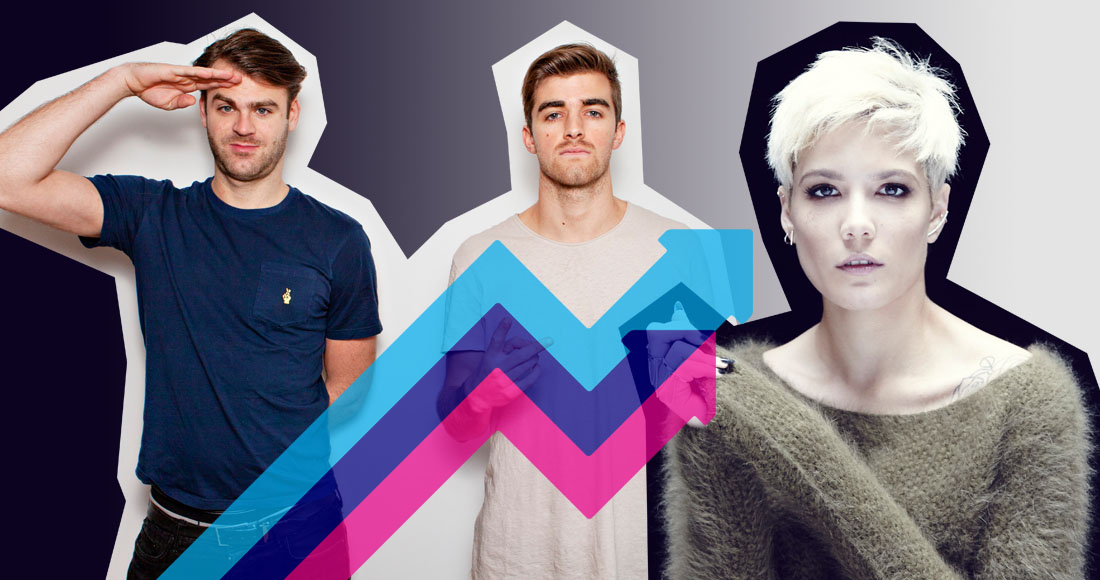 The Chainsmokers and Halsey's Closer rises to Number 1 on this week's Official Trending Chart