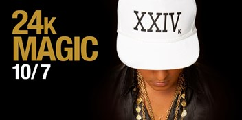 Bruno Mars will release his new single 24k Magic this Friday