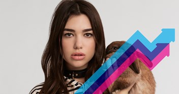 Dua Lipa dominates this week's Official Trending Chart at Numbers 1 and 2