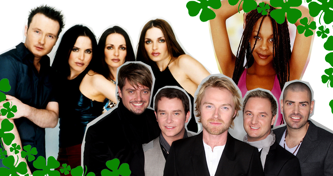 The UK's 40 biggest selling singles by Irish acts of the last 20 years