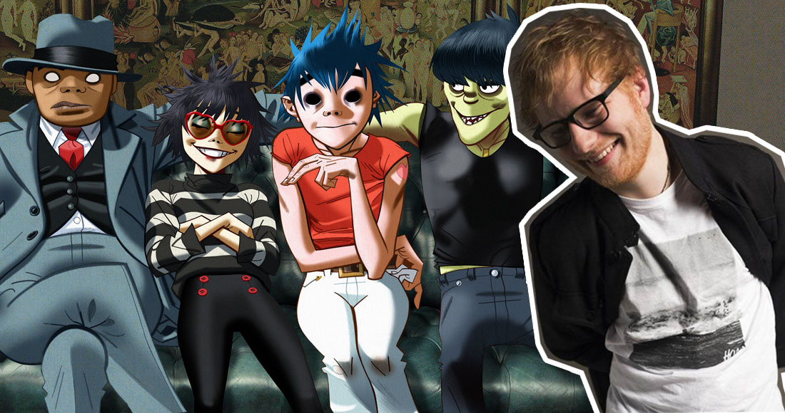 Gorillaz beaten by Ed Sheeran to Official Albums Chart top spot
