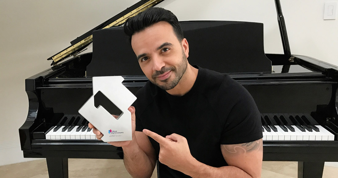 Luis Fonsi, Daddy Yankee & Justin Bieber's Despacito is UK's Number 1 for a second week