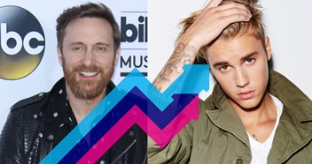 David Guetta and Justin Bieber's 2U is Number 1 on this week's Official Trending Chart