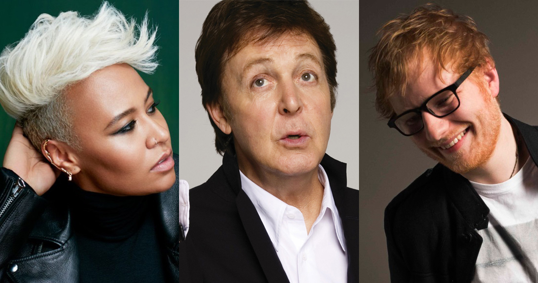 Sheeran, Sandé and McCartney named in Queen's Birthday Honours