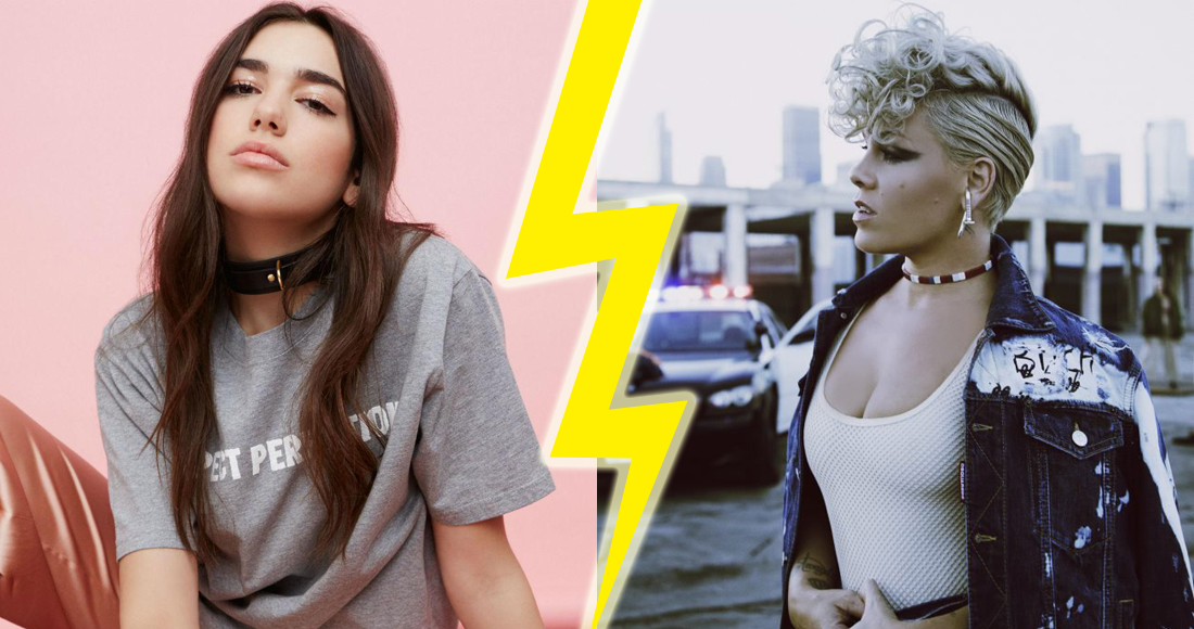 Dua Lipa and Pink battle it out for this week's Number 1 single