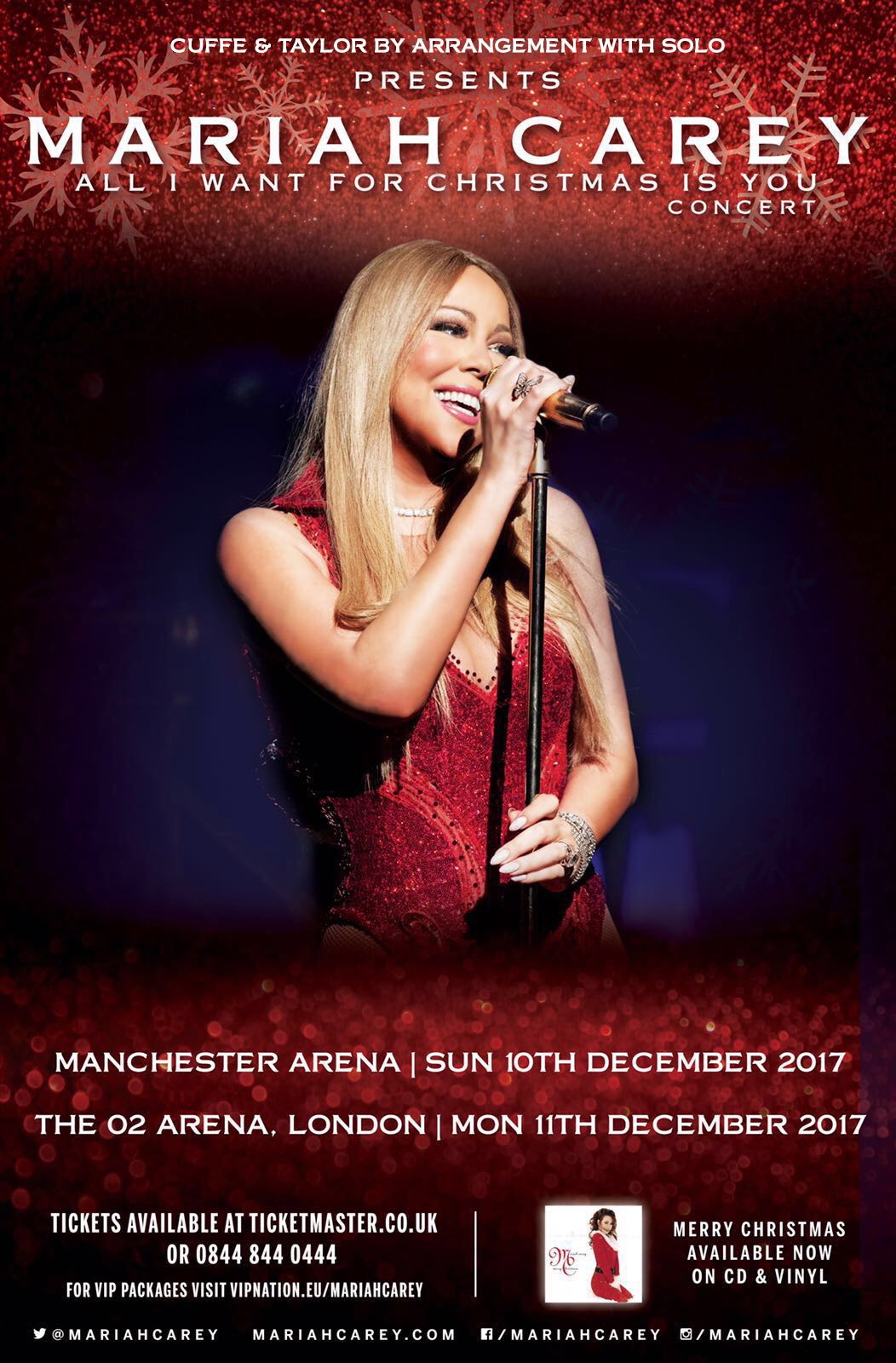 Mariah Carey bringing All I Want For Christmas Is You concert to ...