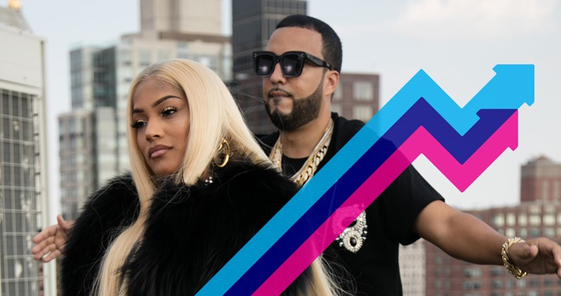 Stefflon Don & French Montana climb to Trending Chart Number 1