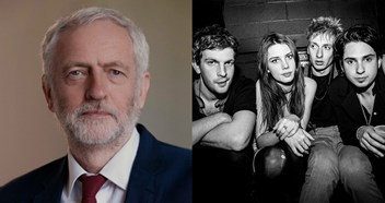 Jeremy Corbyn gets behind Wolf Alice in their chart battle against Shania Twain