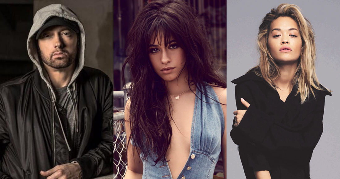 Eminem and Rita Ora challenge Camila Cabello for Number 1
