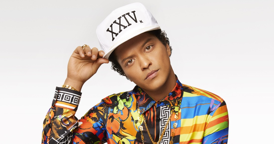 Bruno Mars' Top 10 biggest Official Chart hits