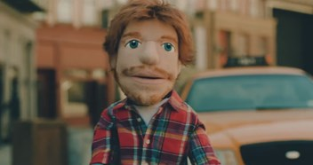 Ed Sheeran unveils Happier music video, featuring lookalike puppet from his Sing video