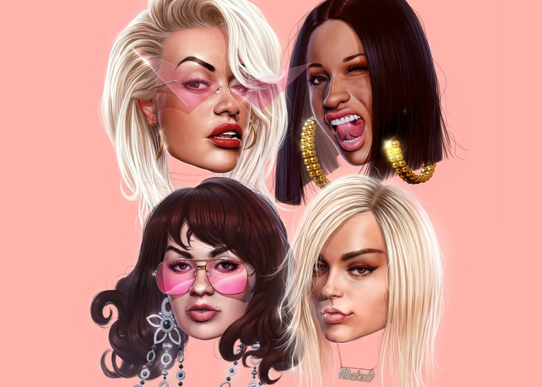 Cardi B, Rita Ora, Charli XCX + Bebe Rexha Deliver on Sexy 'Girls'