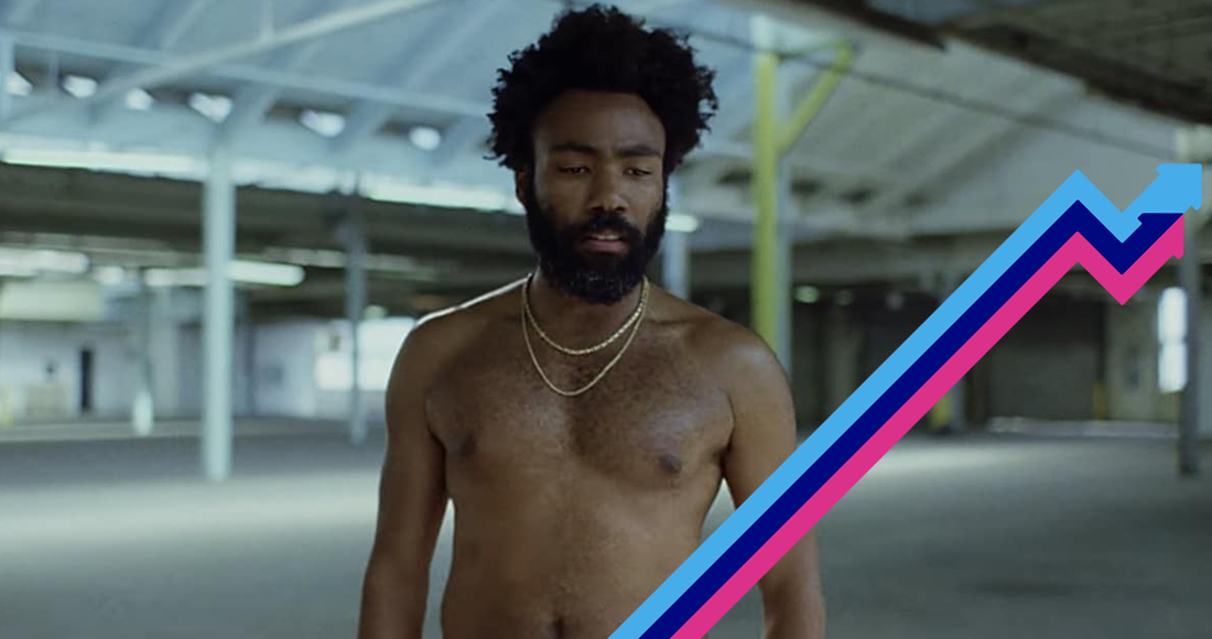 Childish Gambino is Number 1 on the Official Trending Chart