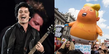 Green Day's American Idiot back in the Top 40 as President Trump visits UK