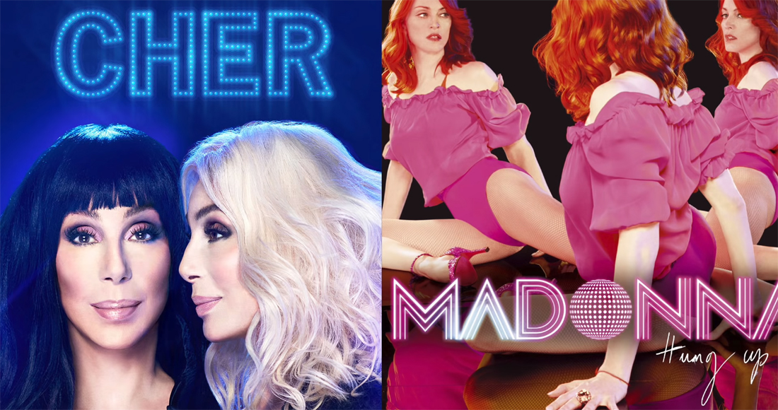 Listen to Cher's Gimme Gimme Gimme vs. Madonna's Hung Up