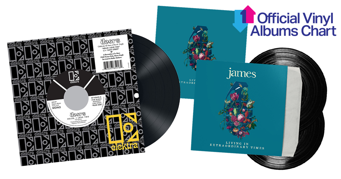 James and The Doors dominate this week's Official Vinyl Charts