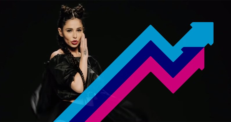 Cheryl's Love Made Me Do It debuts at Number 1 on the Official Trending Chart