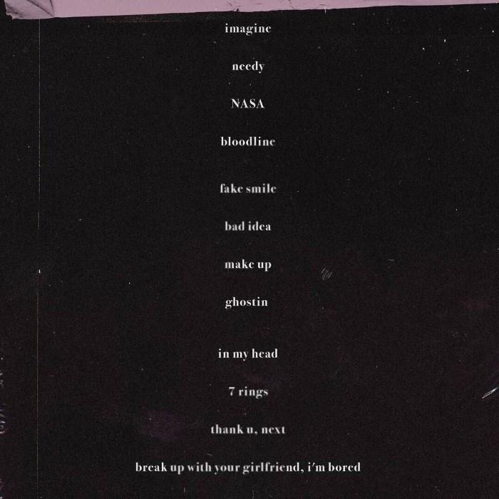 Thank U Next Descargar Gratis: Ariana Grande Shares Tracklisting And Artwork For New Album