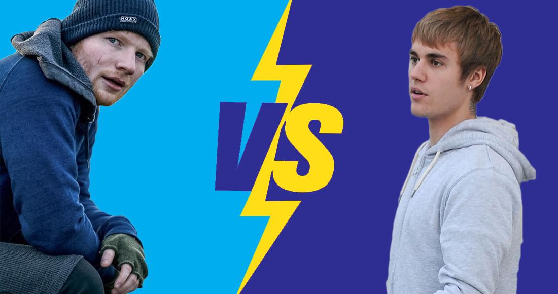 Ed Sheeran versus Justin Bieber: Who is the bigger chart star?