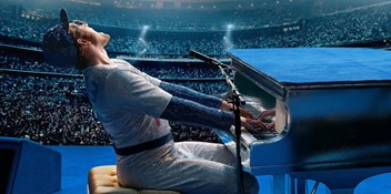 Elton John biopic Rocketman sparkles at Number 1 on the Official Film Chart