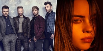 Westlife and Billie Eilish heading for Number 1s on the Official Irish Charts with Spectrum and Everything I Wanted