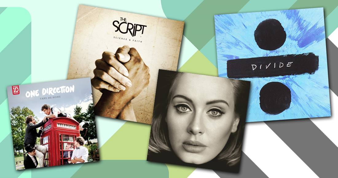 Ireland's Top 10 fastest-selling albums of the decade between 2010-2019
