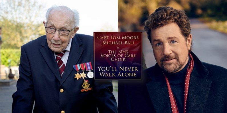 99 year-old war veteran Captain Tom Moore and Michael Ball heading for Number 1 single