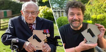 Captain Tom Moore claims victory on the Official Chart with You'll Never Walk Alone, becomes the oldest artist to reach Number 1