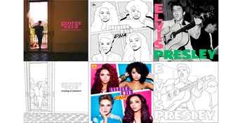 You can now colour in iconic album covers by Elvis Presley, George Ezra and Little Mix for free